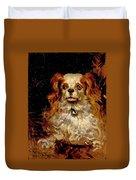 The Duke Of Marlborough. Portrait Of A Puppy Duvet Cover