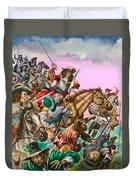 The Duke Of Monmouth At The Battle Of Sedgemoor Duvet Cover