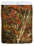 The Dying Leaves' Final Passion Duvet Cover