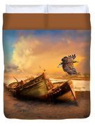 The Eagle And The Boat Duvet Cover