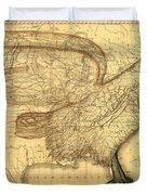 The Eagle Map Of The United States  Duvet Cover