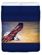 The Eagle Or The Great Thunderbird Spirit In The Sky Duvet Cover