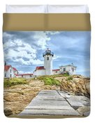 The Eastern Point Lighthouse In Gloucester Duvet Cover