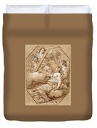 The Ecstasy Of St Mary Magdalene Duvet Cover