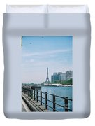 The Eiffel Tower And The Seine River Duvet Cover