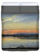The Elbe In Evening Light Duvet Cover