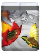 The Electric Hummingbird Duvet Cover