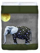The Elephant And The Moon Duvet Cover