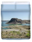 The Elephant At Elephant Butte Lake  Duvet Cover by Allen Sheffield