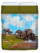 The Elephants Rise Duvet Cover