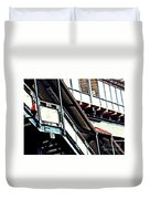 The Elevated Station At 125th Street Duvet Cover