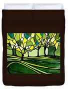 The Emerald Glass Forest Duvet Cover