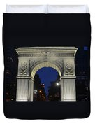 The Empire State Building Through The Washington Square Arch Duvet Cover