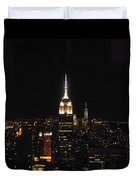 The Empire States At Night Duvet Cover