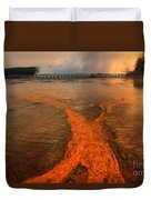 The Enchantment Of Grand Prismatic Spring Duvet Cover