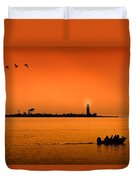 The End Of A Wonderful Day. Duvet Cover