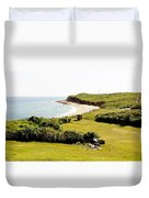 The End Of Long Island South Duvet Cover
