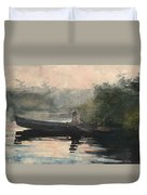 The End Of The Day Adirondacks Duvet Cover