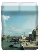 The Entrance To The Grand Canal And The Church Of Santa Maria Della Salute Duvet Cover by Canaletto