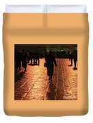 The Entrance To The Western Wall At Night Duvet Cover