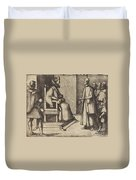 The Envoy Of Tuscany Thanking The Queen [verso] Duvet Cover