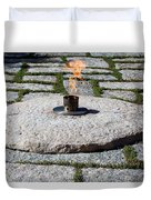 The Eternal Flame At President John F. Kennedy's Grave Duvet Cover
