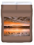 The Evening Geese Duvet Cover