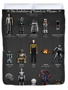 The Evolution Of Robots In Movies Duvet Cover