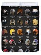 The Evolution Of The Nfl Helmet Duvet Cover