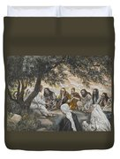 The Exhortation To The Apostles Duvet Cover
