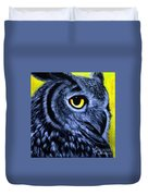 The Eye Of The Owl -the  Goobe Series Duvet Cover