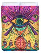 The Eye Opens... To A New Day Duvet Cover by Daina White