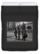 The Fab Four In Black And White Duvet Cover