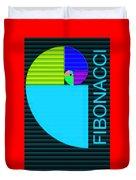 The Fibonacci Equation Catus 1 No. 2 V B Duvet Cover
