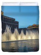 The Fabulous Fountains At Bellagio - Las Vegas Duvet Cover
