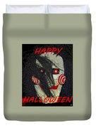 The Face Halloween Card Duvet Cover