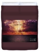 The Face Of Christ Duvet Cover