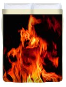 The Face Of Fire Duvet Cover
