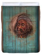 The Face Of Wisdom Duvet Cover