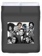 The Faces Of Motown Duvet Cover