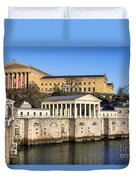 The Fairmount Water Works And Art Museum Duvet Cover by John Greim