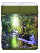 The Fairy Glen Gorge River Conwy Duvet Cover