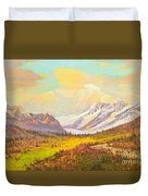 The Fall Colors Of Alaska Route 8 No.3 Duvet Cover