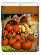 The Fall Harvest Is In Kendall Square Farmers Market Duvet Cover