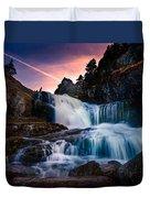 The Falls At Flatrock Duvet Cover