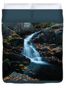 The Falls Of Black Creek In Autumn II Duvet Cover