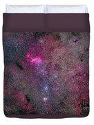 The False Comet Cluster Area Duvet Cover