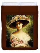 The Fancy Bonnet Duvet Cover by Emile Vernon