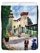 The Farm In Montelopio -pisa Duvet Cover