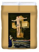 The Father Is Present -after Dali- Duvet Cover